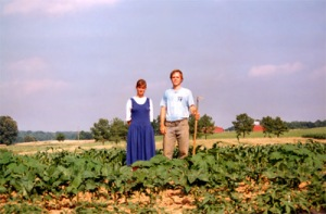 Eric and Mary Brende, on their modern homestead.