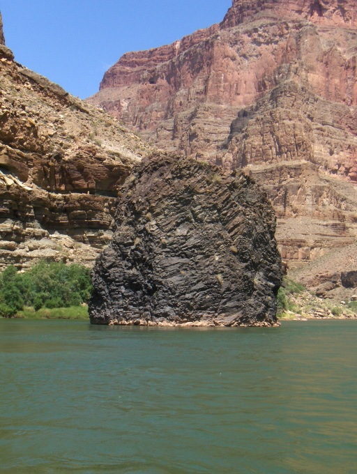 Thor's Anvil: volcanic activity deposited ash and lava in the Colorado River between 3 million and 100,000 years ago.