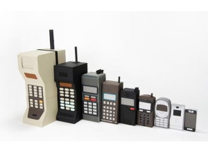Moore's Law is easily seen in the evolution of cell phones in the last several decades.