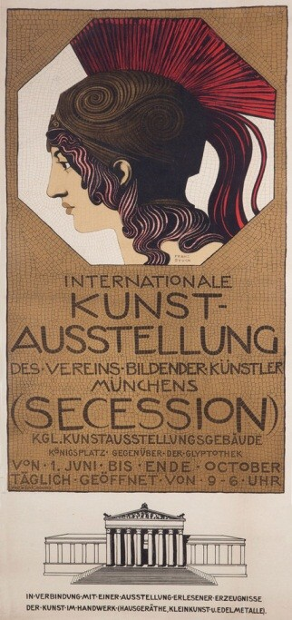 Program cover for the Munich Kunstaussellung (artists' society)