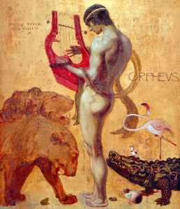 Orpheus charming the animals with his music