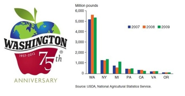 Even today, Washington state is the primary supplier of apples in the United States.