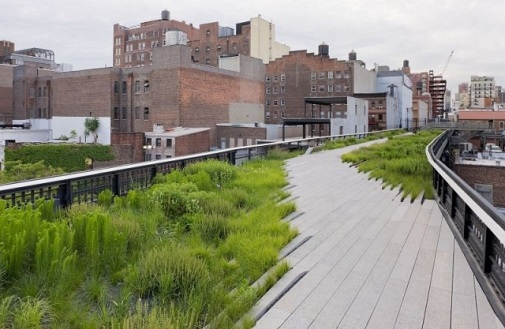 Susan think New York City's High Line is a great example of successful landscape architecture. It creates a space with a local historical identity, in a city built from so thousands of different cultures.